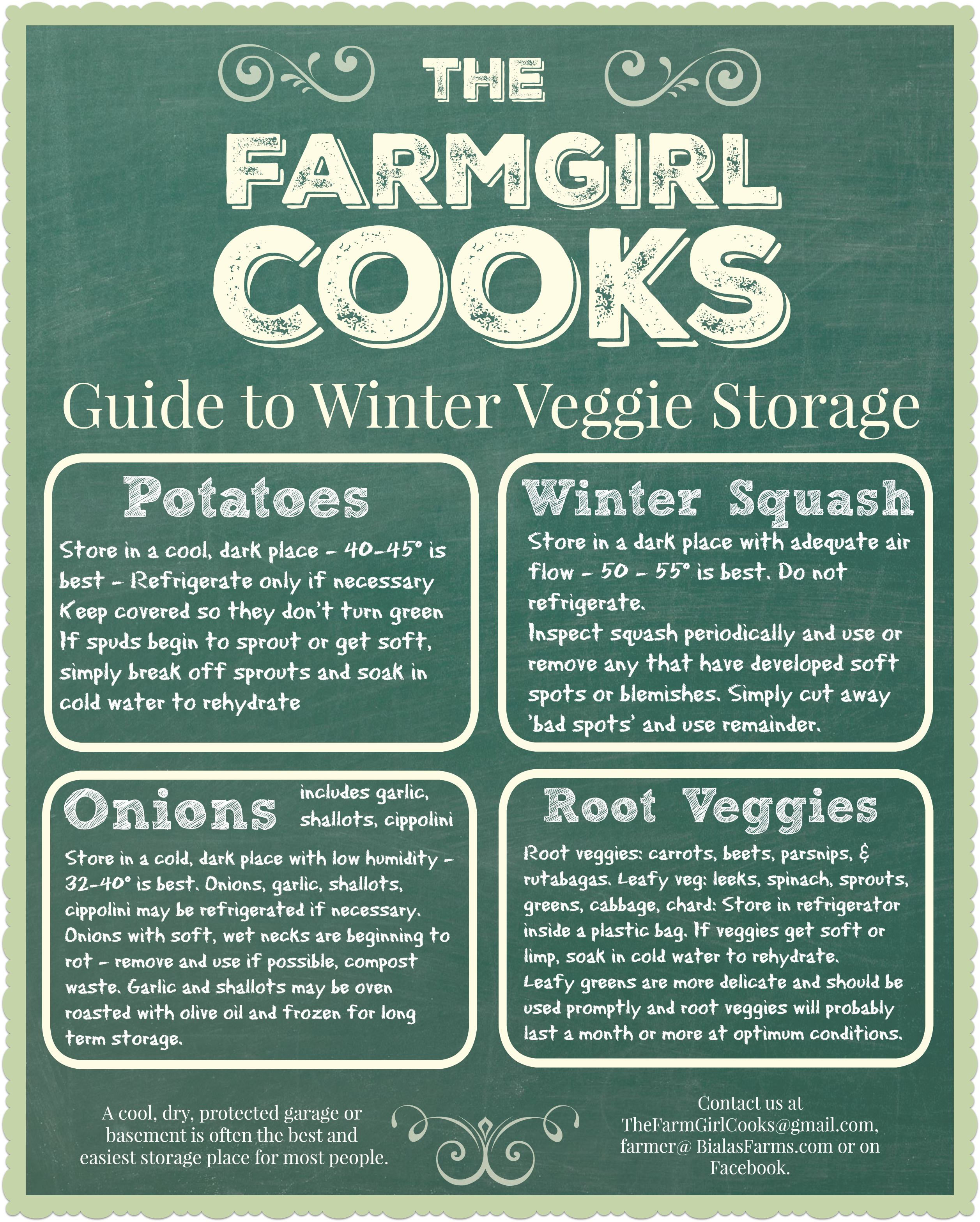 TFGC Guide To Winter Veggie Storage