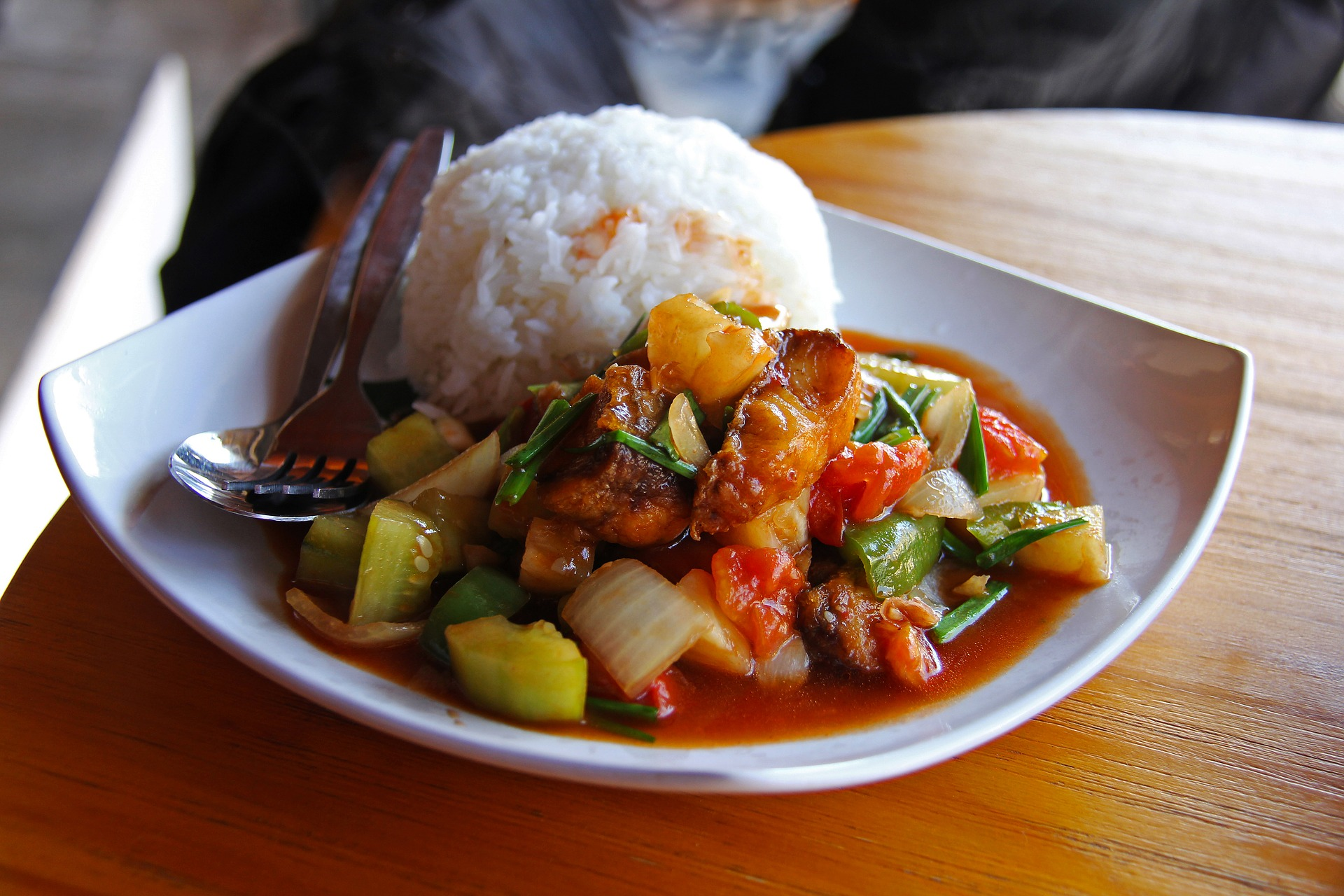 vegetable with rice